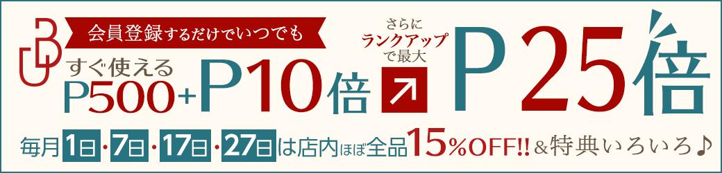 会員登録で500円相当ポイントプレゼント