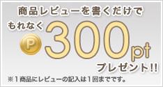 商品レビューで300ポイントプレゼント