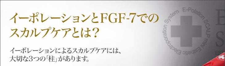 イーポレーションとFGF-7でのスカルプケアとは?イーポレーションによるスカルプケアには、大切な3つの「柱」があります。