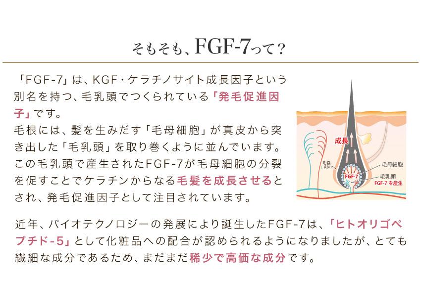 FGF-7はヒトオリゴペプチド-5 発毛促進因子